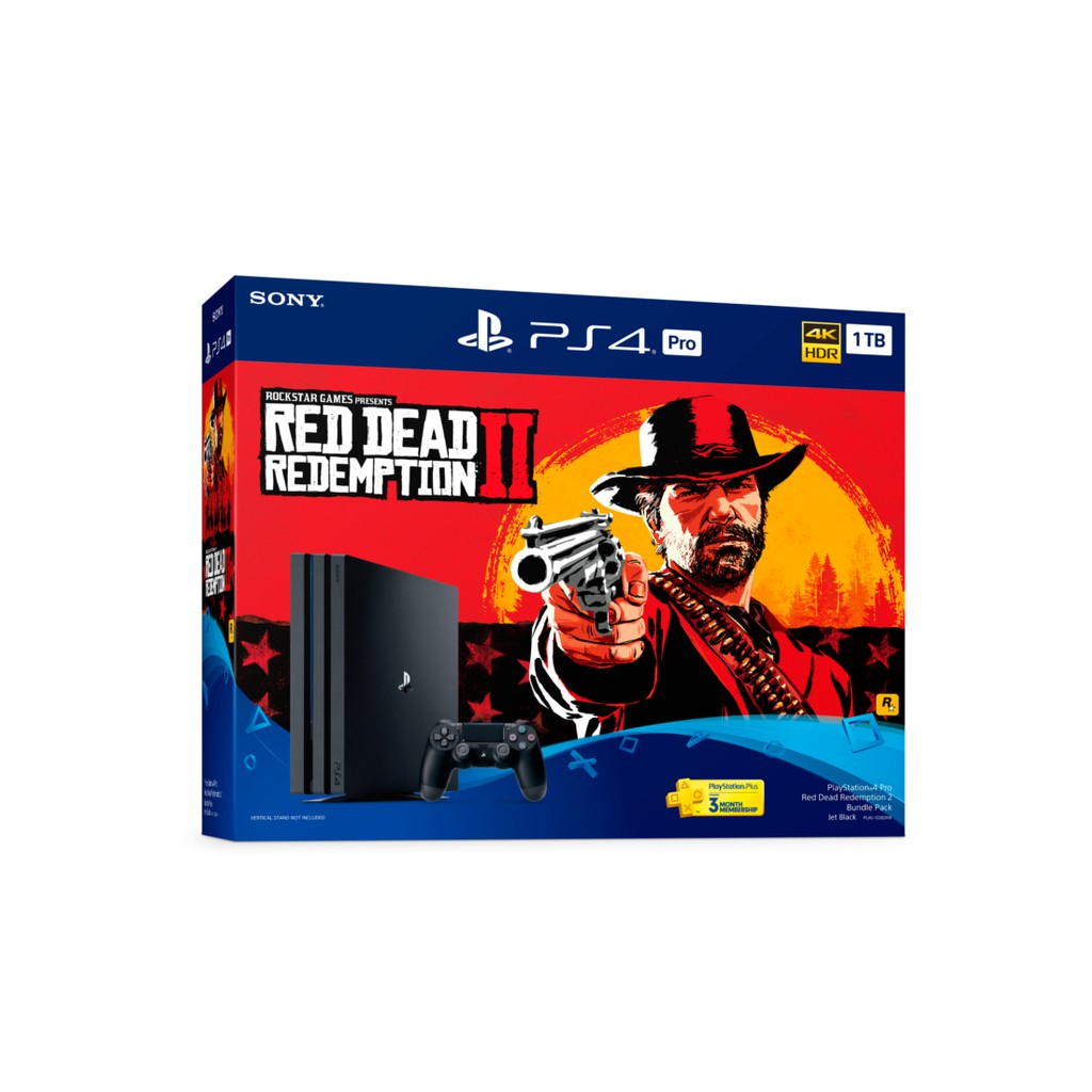 Sony PS4 Pro Red Dead Redemption 2 (1TB) [Free 2 Controllers + 2 Years  Warranty]