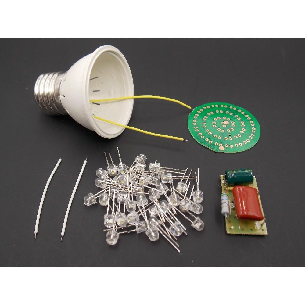M126 1 Set Energy-saving Light 38 Leds Lamps Diy Kits Electronic Suite Active Components