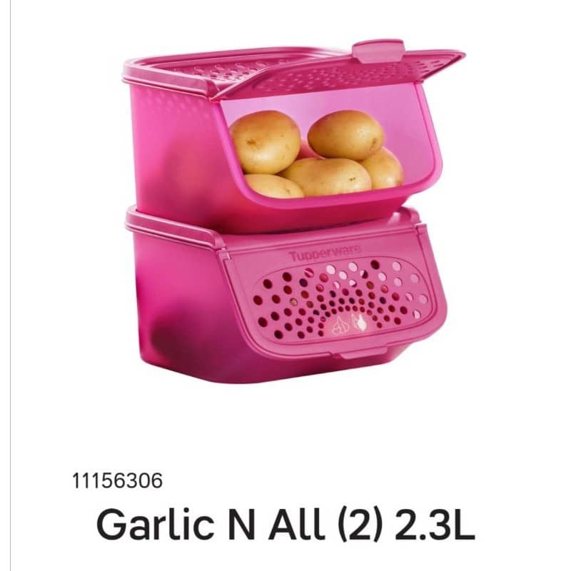 Tupperware Garlic N All Keeper 2.3L / Garlic Keeper Bekas Bawang - New