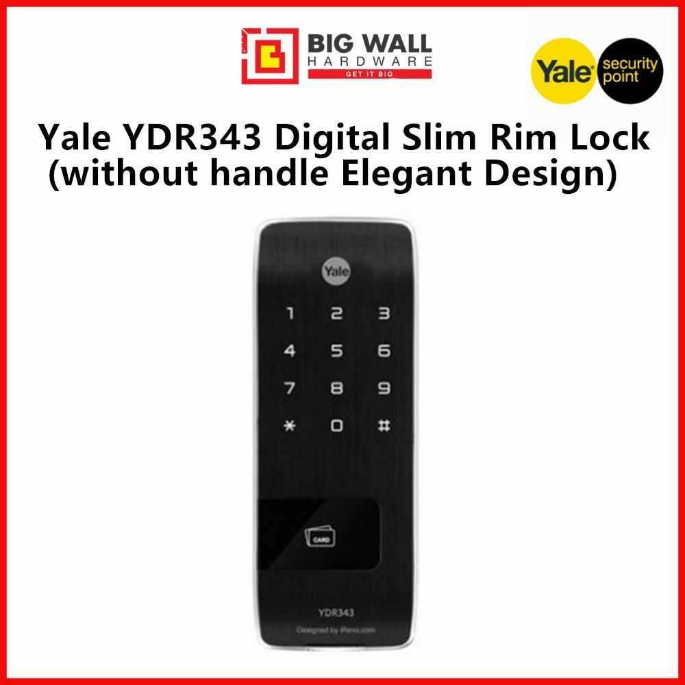 Yale YDR 343 Slim Rim Lock Without Handle Elegant Design (Free Luggage Padlock)
