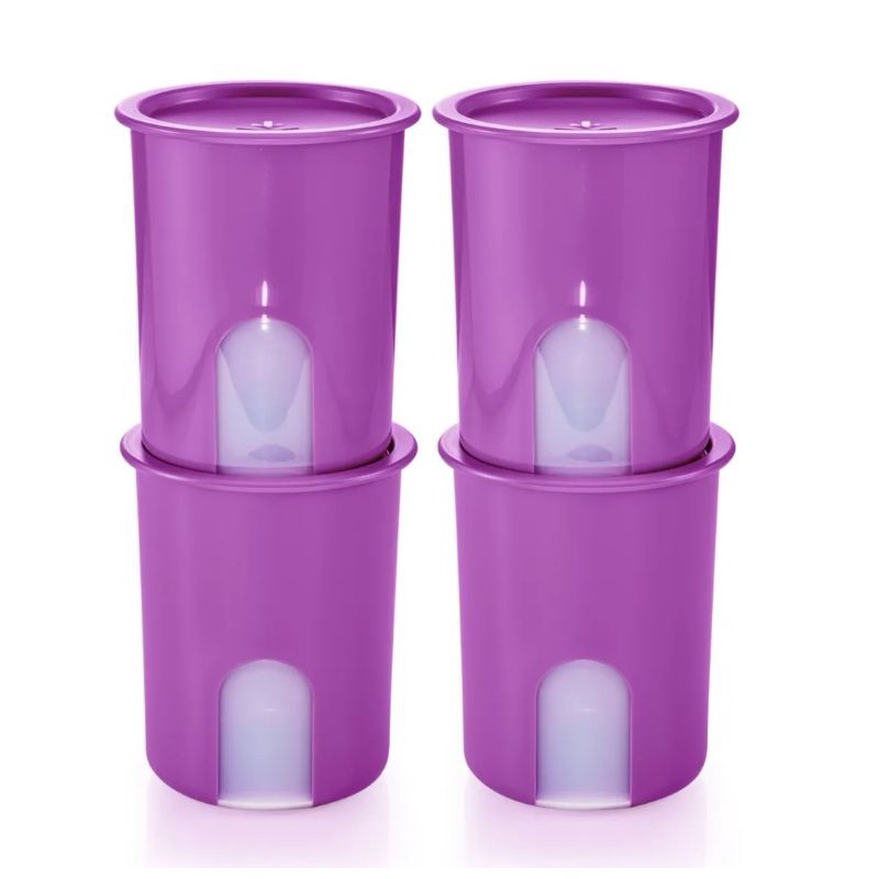 READYSTOCK Purple One Touch Window 4pcs or Pink/Blue Tupperware 6pcs Camellia One Touch 1.25L 1250ml One Touch Airtight