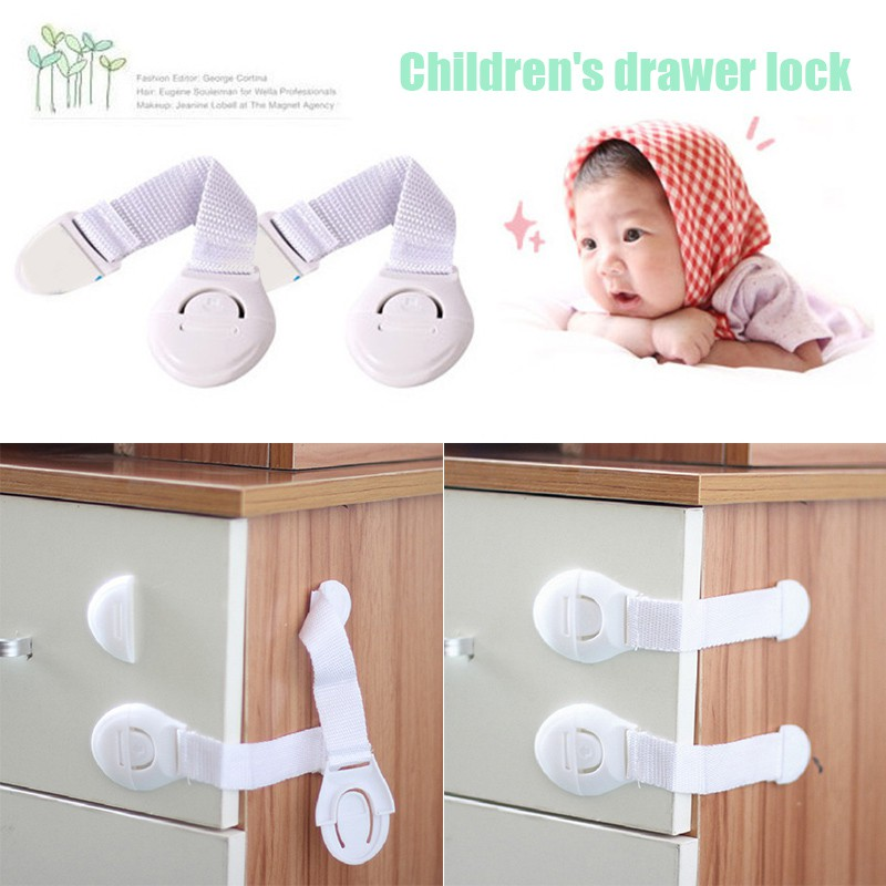Baby Safety Door Lock Cabinet Drawer Fridge Toilet Kids Security Care Straps