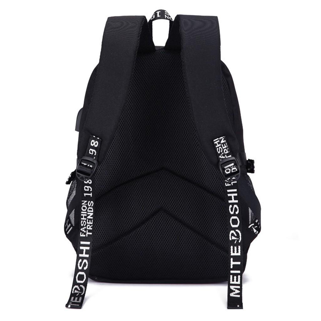 Unisex USB Schoolbag Marshmallow Cosplay Backpack DJ Marshmello Oxford Cloth Bag