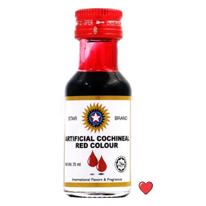 Star Brand Artificial Cochineal Red Colour @ 25ml ( Free fragile + bubblewrap packing )