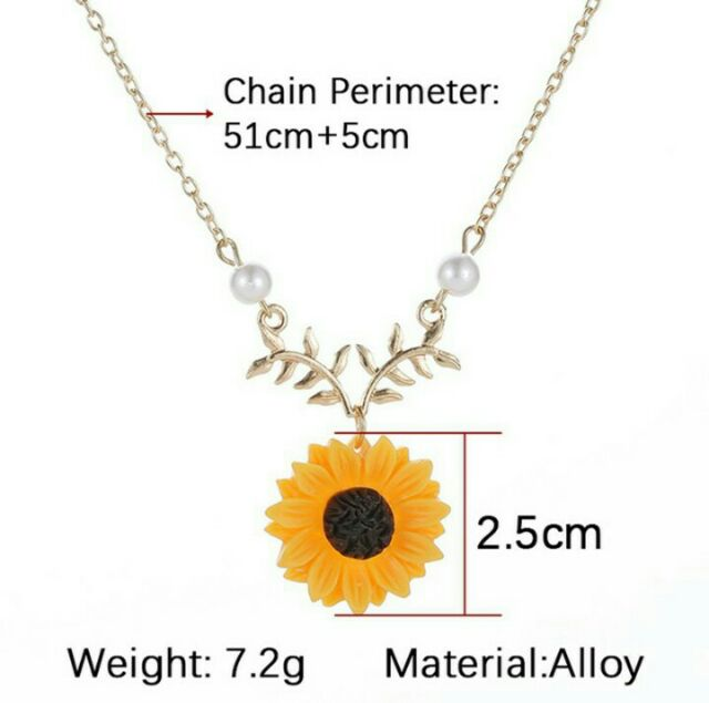 c442b9d7e D. Rose Gold Sunflower Leaf Branch Necklace Charm Gold Plated Twig Necklace