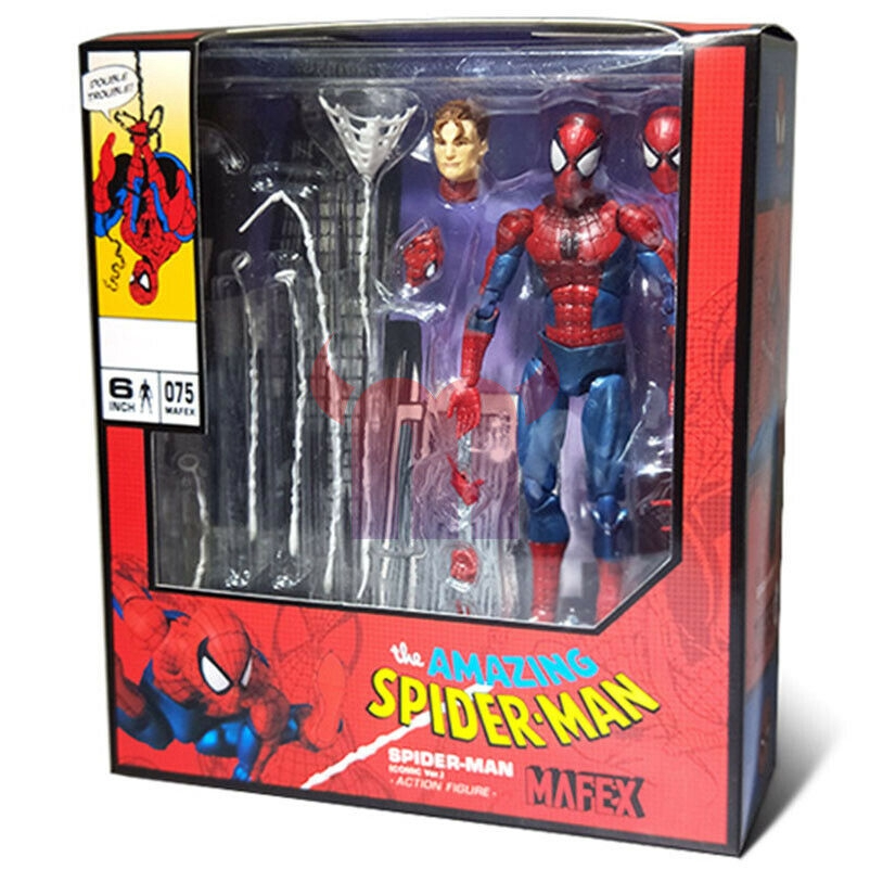Action Figure New In Box 075 Marvel The Amazing Spider-Man Comic Ver Mafex No