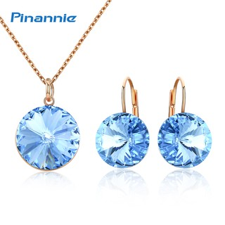 83262c01dbc Pinannie Gold Plated Crystal Necklace/Earrings Jewellery Sets for ...
