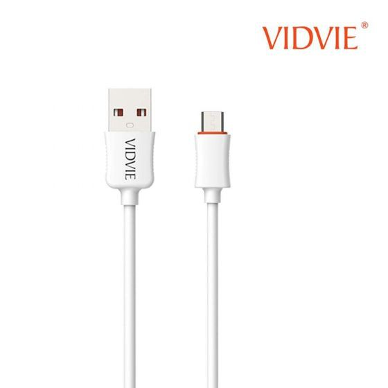 VIDVIE CB443-2 DATA CHARGING CABLE 120CM 2.4A SUPER FAST CHARGE SYNC SPEEDS ULTRA DURABLE FOR LIGHTNING MICRO USB TYPE C