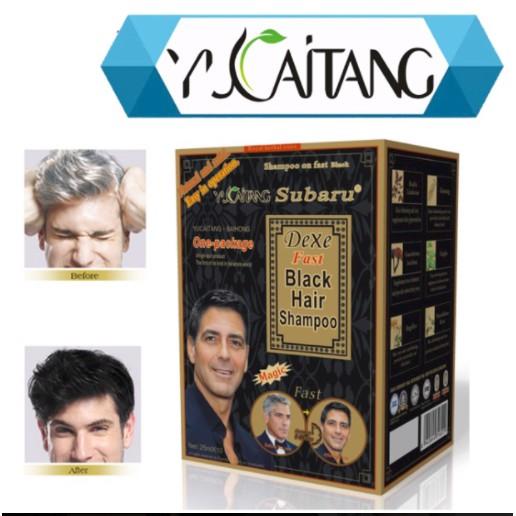 Dexe Yucaitang Fast Black Hair Shampoo 1 BOX
