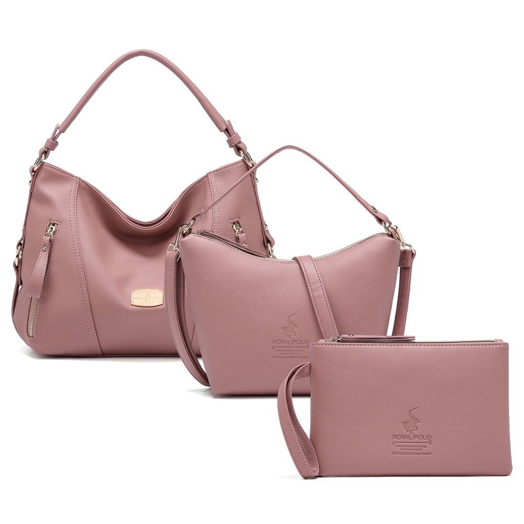 ROYAL POLO Quinn Handbag 3 in 1 Set [Free Sling Bag + Wristlet]
