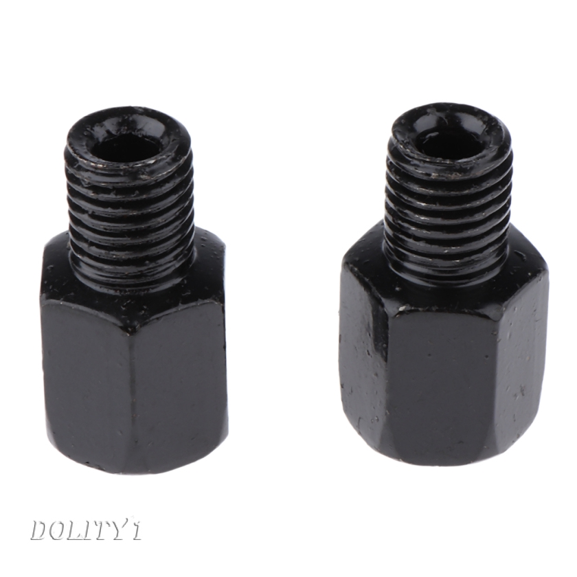 Motorcycle Mirror Adapters RH 10mm Mount to RH10mm Mirror Rearview Black