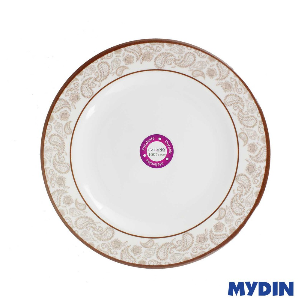 "Italiano Melamine Flat Plate 8"" 100% Pure GL919116"