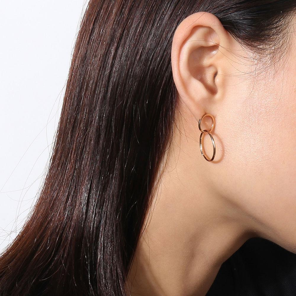 6343e92d9ac49 Women Circle Hoop Earrings Personality Double Circle Drop Earrings Stud  Earrings