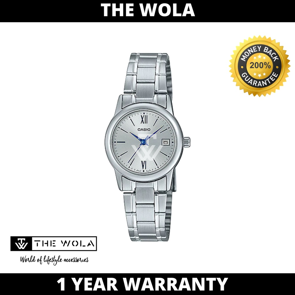 Casio Women's Analog LTP-V002D-7B3 Silver Stainless Steel Watch