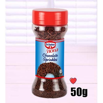 Dr.Oetker Nona Chocolate Sprinkles 50g ( Free Fragile + Bubblewrap Packing )