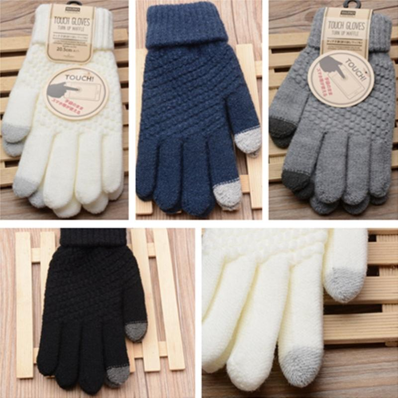 2649a6c6d Ladies Girls Touch Screen Mittens Imitation Cashmere Knitting Sheep Wool  Glove | Shopee Malaysia