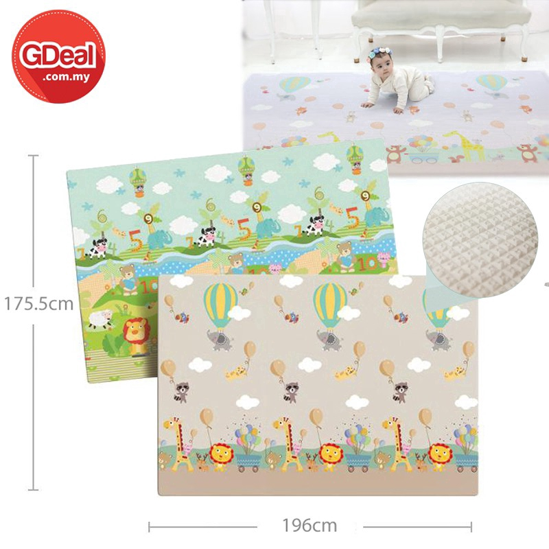 GDeal Baby Play Crawling Thick Mat Double-sided LDPE Anti-skid Carpet - Animal