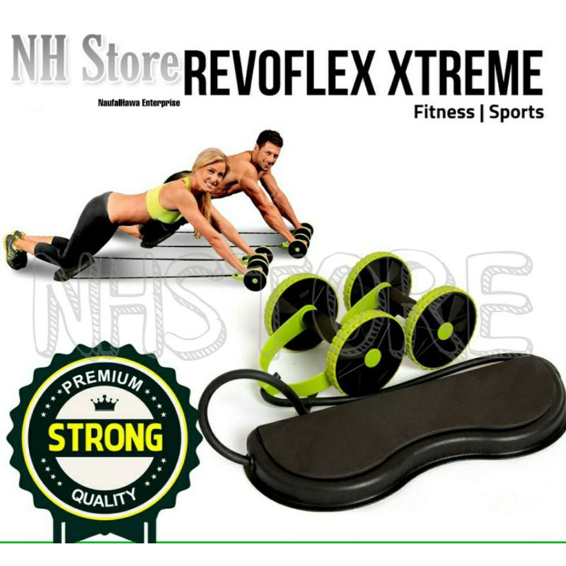 AB Roller Revoflex Extreme Fitness Exercise Rope Gym Equipment Fitness Muscle Equipment Gym Set / Set Gym Murah