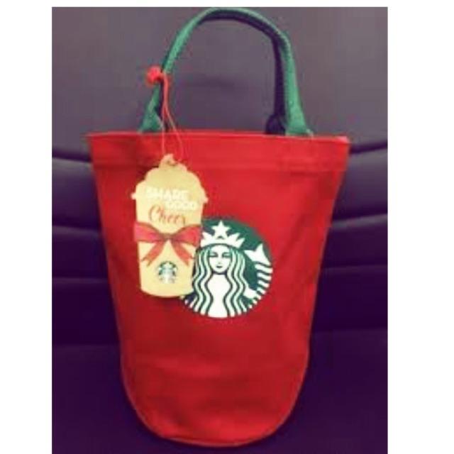Starbucks Christmas Tote Bag Thailand 2015 Limited Edition
