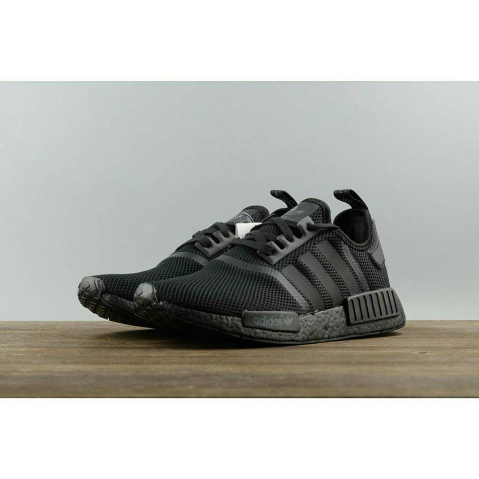 online retailer 21121 24aec Adidas Nmd R1 Triple Black S31508 All-Black Webshoe All-Red 100% Ori  Leisure Spo