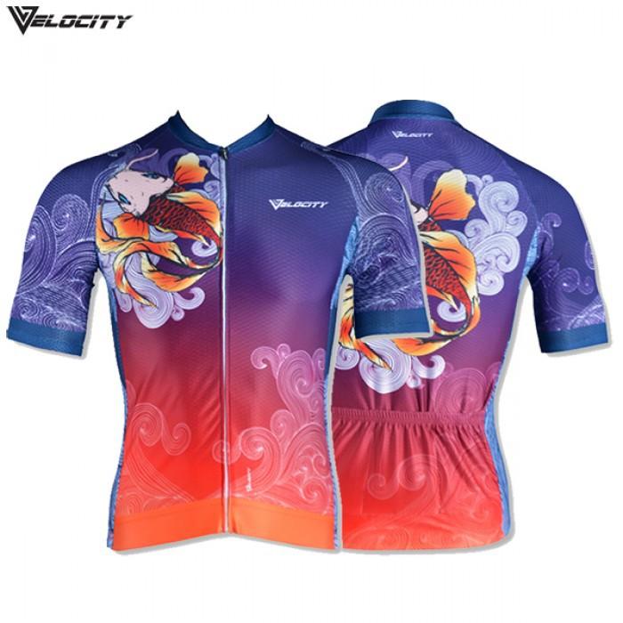 Velocity Golden Koi Lotus Short Cycling Jersey