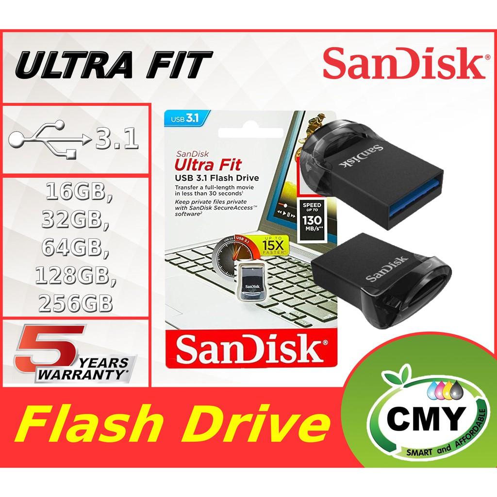 Sandisk Ultra Fit USB 3.1 Flash Drive 16GB 32GB 64GB CZ430 Pendrive