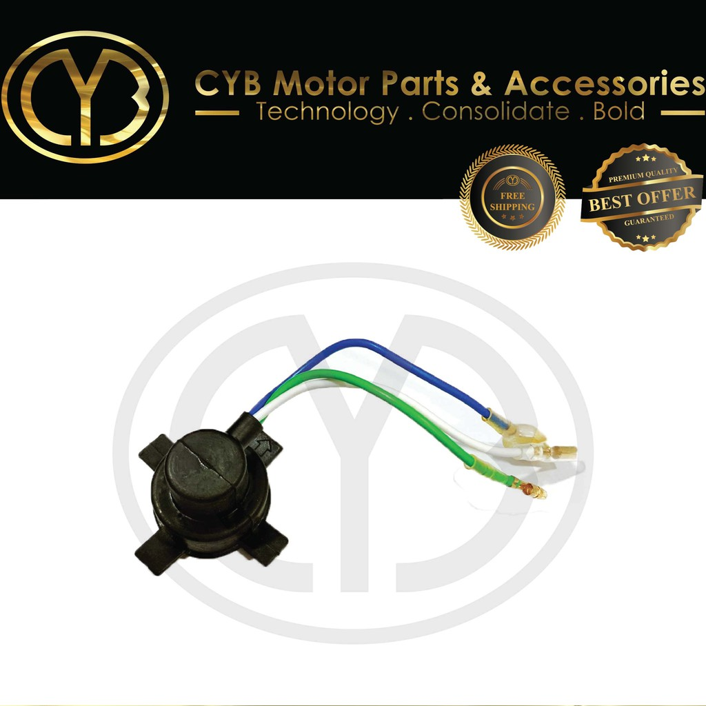 CYB HEAD LAMP SOCKET (ICON,WAVE110,FUTURE,C70,GBO,EX5,EX5CLASS1,WAVE100,WAVE100R,WAVE125,WAVE125S,WAVE125X)