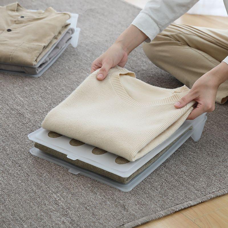 【Ready stock】衣柜叠衣板收纳折衣板t恤衬衣毛衣裤子衣服整理折衣板懒人神器