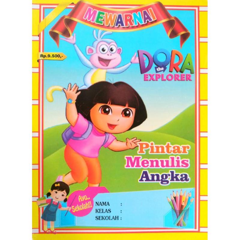 Dora The Explorer Coloring Book Shopee Malaysia