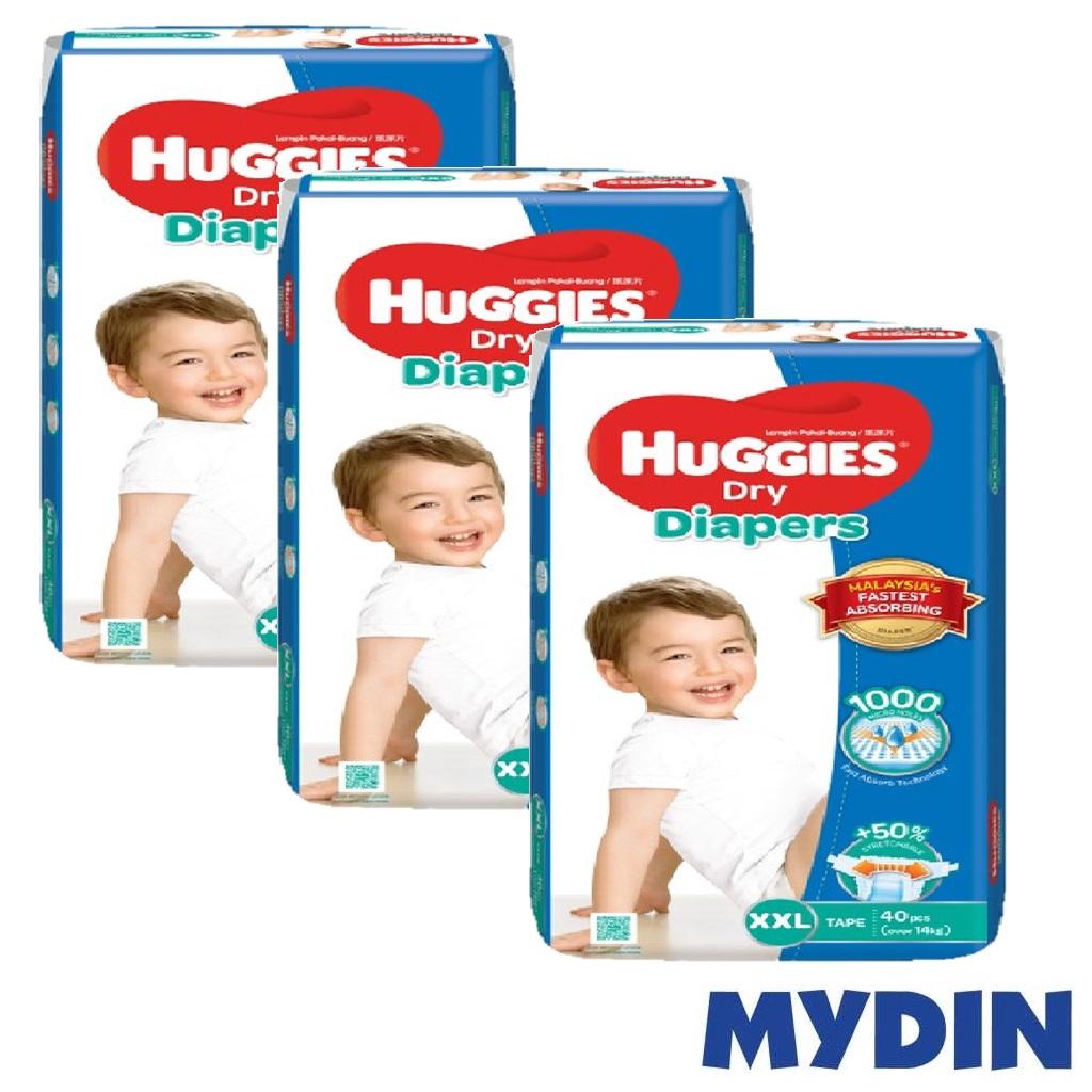 Huggies Dry Diapers XXL40 x 3 packs