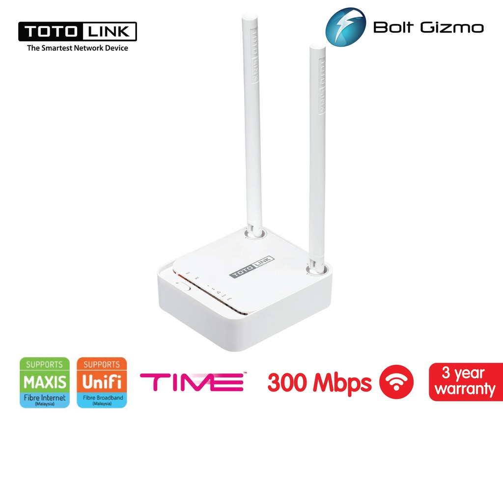TOTOLINK N200RE V3 Travel Companion Mini 2 PORT ROUTER AP REPEATER 300MBPS WiFi Extender Access Point PORTABLE HOTSPOTS
