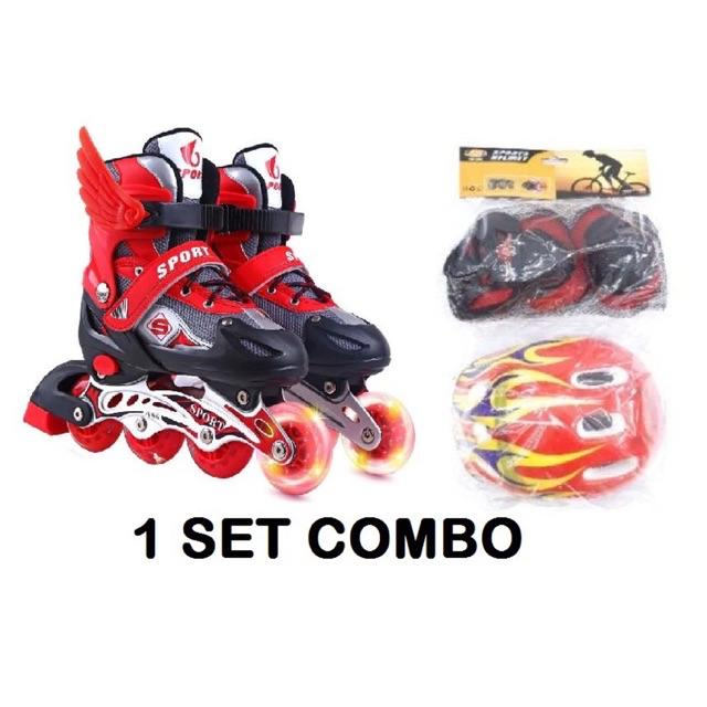 Ready Stock Malaysia Roller Blade roller skate S, M, L adjustable size