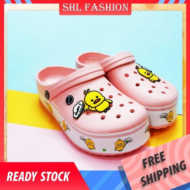 SHL Women Ladies Duck Crocs Colorful Clogs Cute Shoes