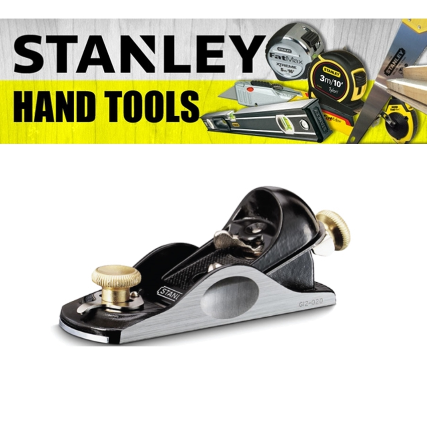 STANLEY PROFESSIONAL BLOCK PLANE 12-060-1 PAINTING FINISHING TOOLS  150MM 6'' CUTTER 35MM 1-3/8 INCH HAEVY DUTY TOOL