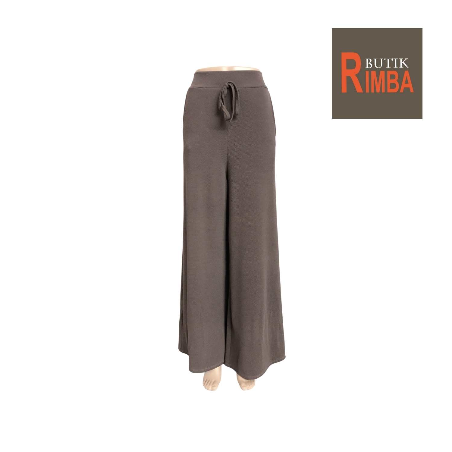 PLAIN PALAZO PANT LONG WITH FASHION SMALL TIE AND POCKET STRETCHABLE FREE SIZE (FITS S-XXL)