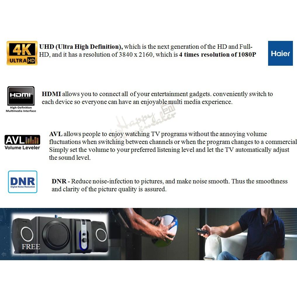"Haier 65"" 4K Ultra HD LED TV"