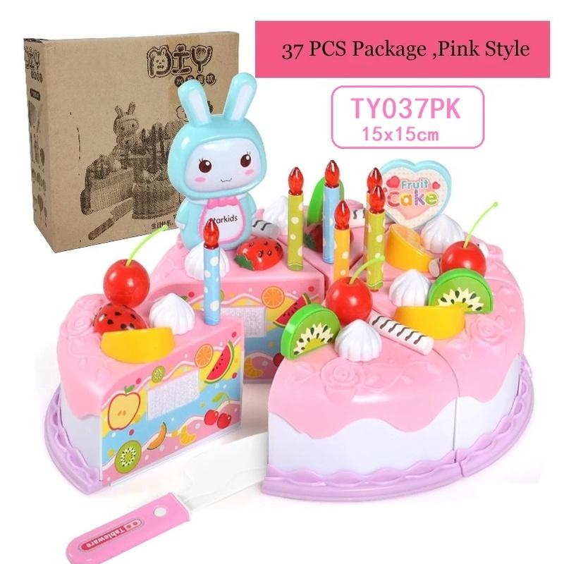 [ READY STOCK ]  Pretend Play Kitchen Toy Cutting Fruit Vegetable Food Cake Budak Mainan Jualan Murah Girl Birthday Gift