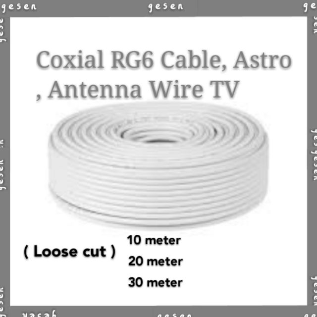 Coxial RG6 Cable,Astro,Antenna Cable Wire TV MyTV TV box (Loose Cut)