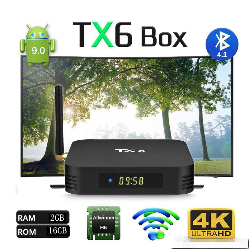 Preinstalled 10000 local and international channels movies dramas sport TX6  TV Box Bluetooth Android 9 0 TVBOX 4GB/32GB