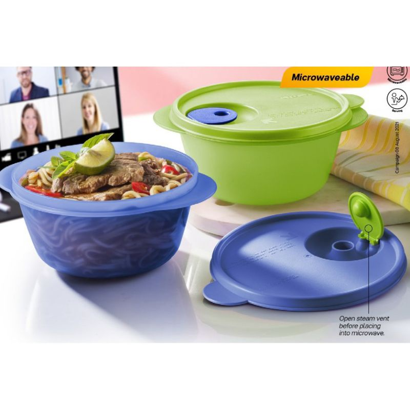 Tupperware CrystalWave Bowl (2pcs) 800ml