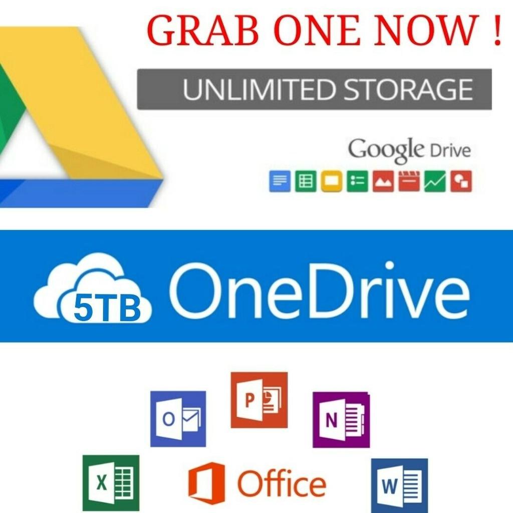 OneDrive 5TB + Office365 Pro Plus + Google TeamDrive Unlimited 🔥STOCK  READY🔥