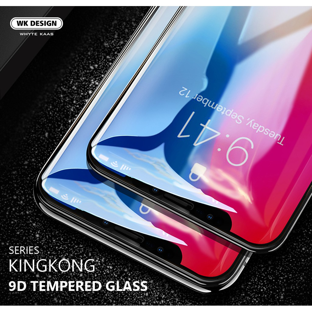 WK KINGKONG 9D Curved Edge Tempered Glass for iPhone Full Cover Screen Protector | Shopee Malaysia