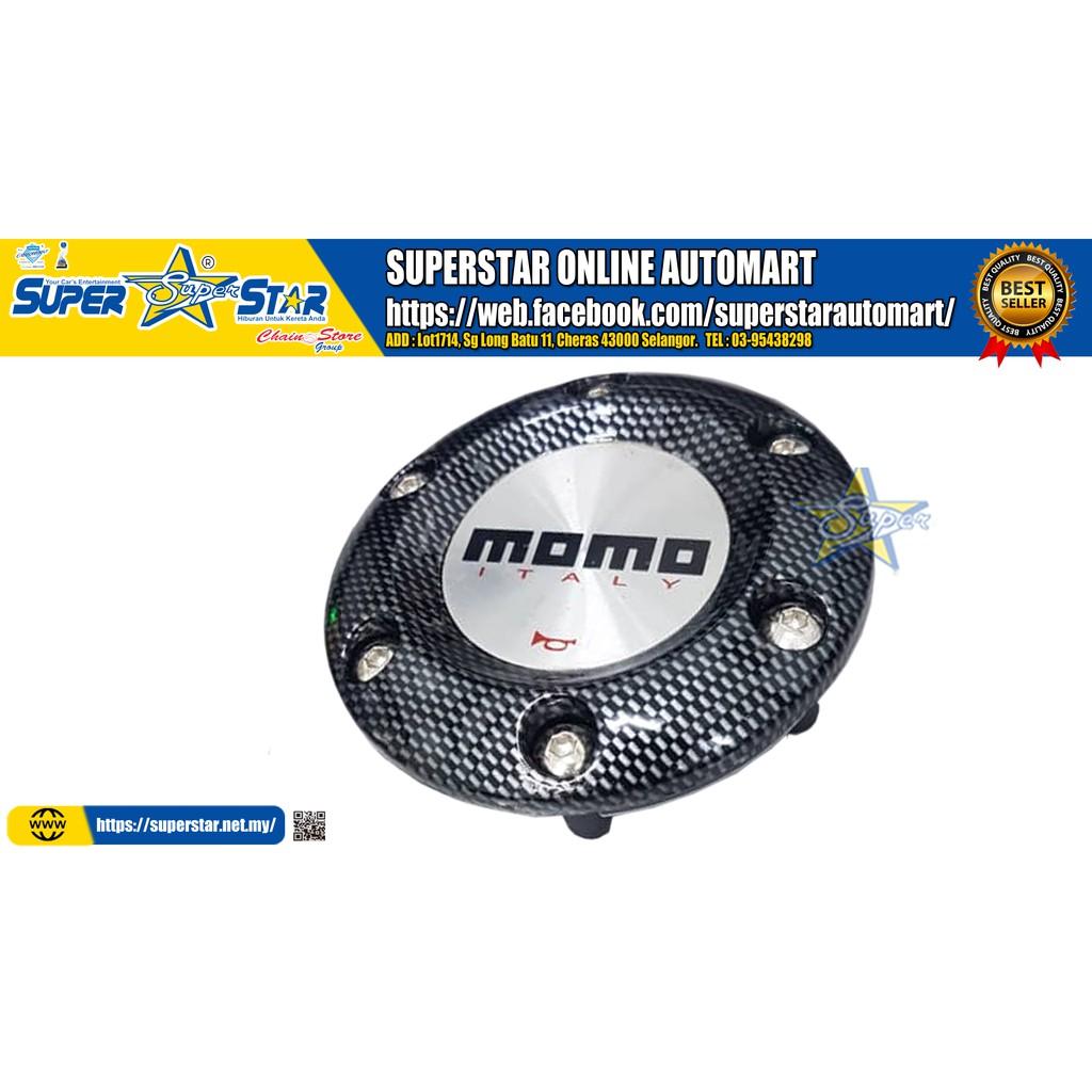 Momo carbon Horn Button Steering Wheel Hub Cap(Plastic)