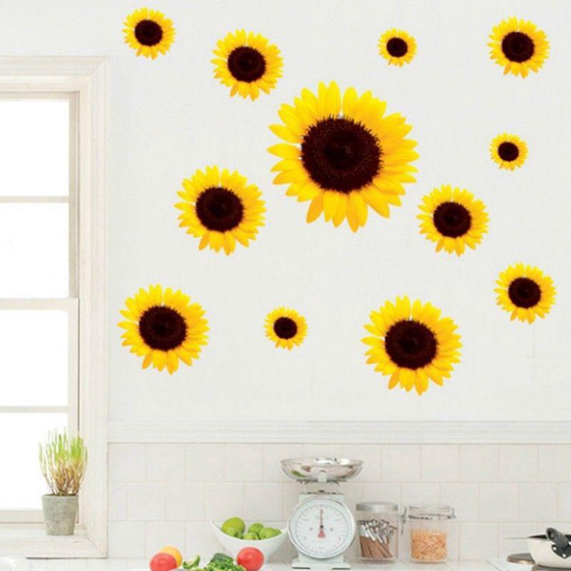 SunFlower Decals Car Stickers Graphics Nursery Wall Window Decor Art