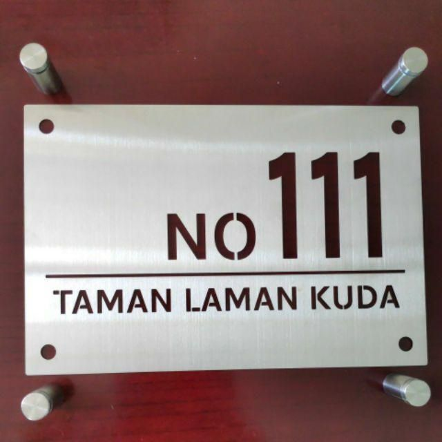 Stainless Steel House Number Plate