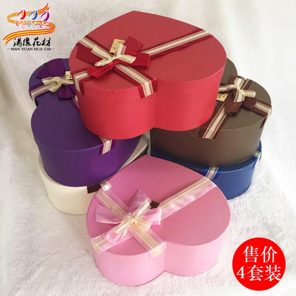 Flowers Box Set Heart Shaped Flowers Gift Box Valentine Soap Flower Gift Box Shopee Malaysia