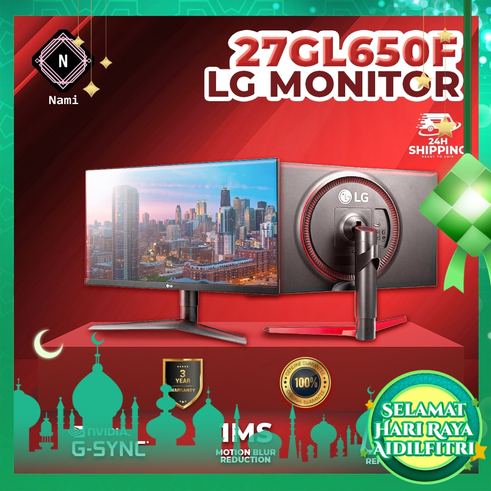 LG 27GL650F-B 27 Inch UltraGear™ Full HD IPS Gaming Monitor with G-Sync® Compatible, Adaptive-Sync