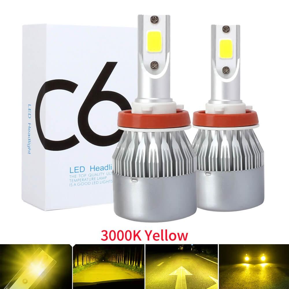 Ready Stock 2pcs 3000k Yellow Auto Fog Lamp H7 Led H4 H11 H1 9005 Hb3 9006 Hb4 9600lm Cob Mini Car Headlight Bulbs Headlamps Kit 12v Shopee Malaysia