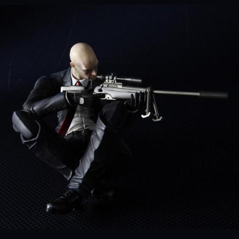 Play Arts Hitman Codename Killer 47 Action Figure Toys Shopee Malaysia