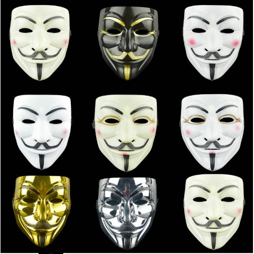 Anonymous Hacker V For Vendetta Guy Fawkes Fancy Dress Party Face